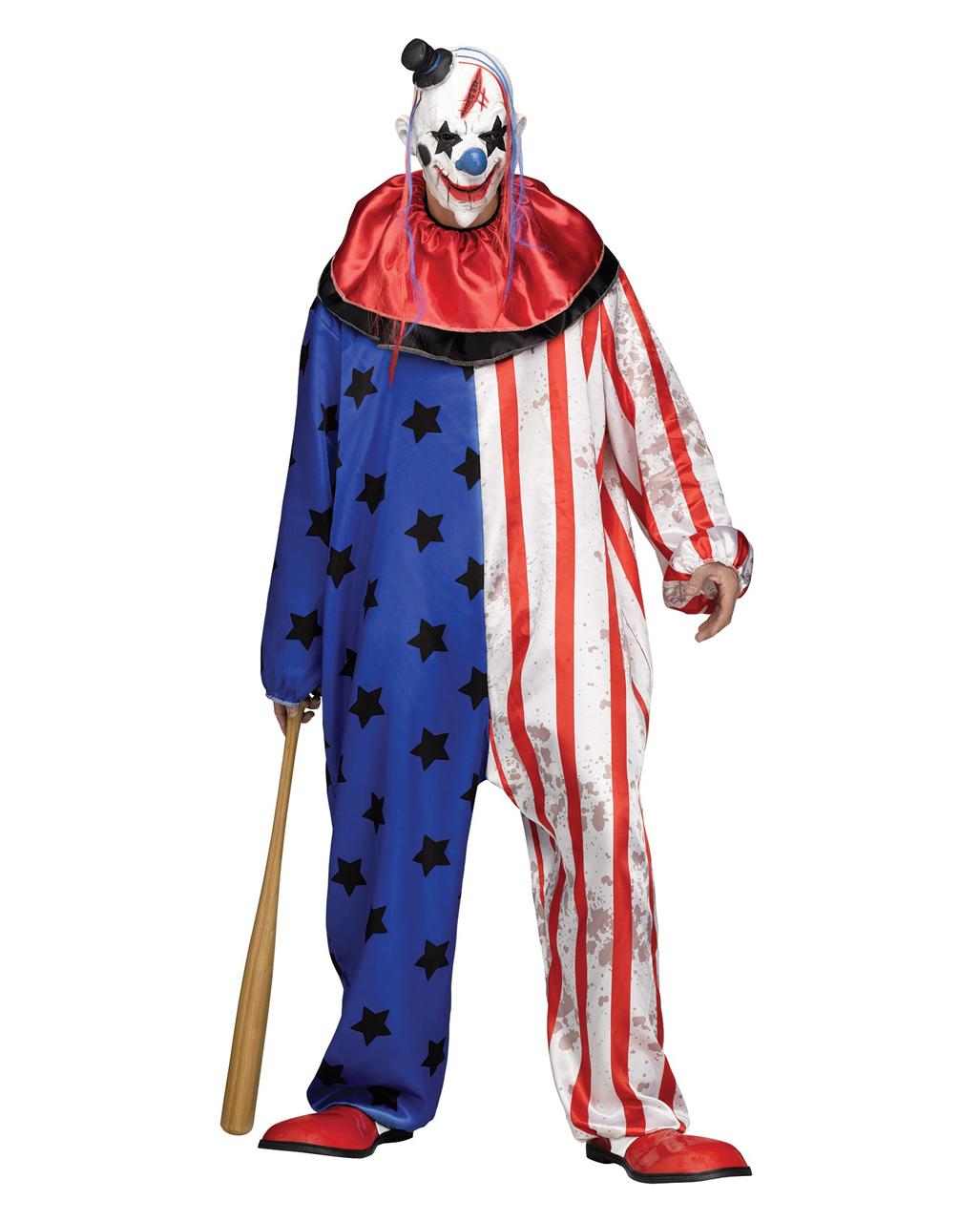 horror zirkus clown kost m mit maske halloween clown verkleidung horror. Black Bedroom Furniture Sets. Home Design Ideas