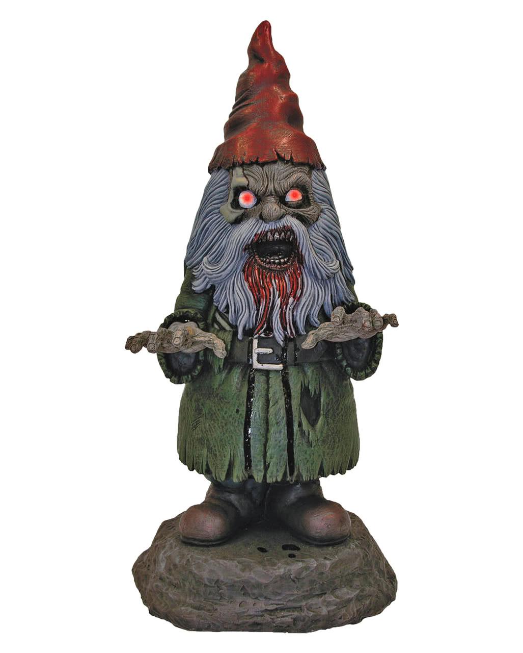 Horror Gartenzwerg Mit Led Augen Halloween Deko Horror Shop Com