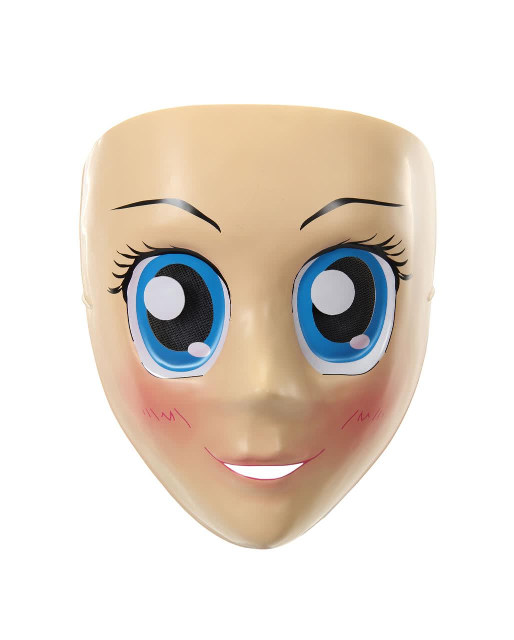 Anime Half Mask Blue Eyes
