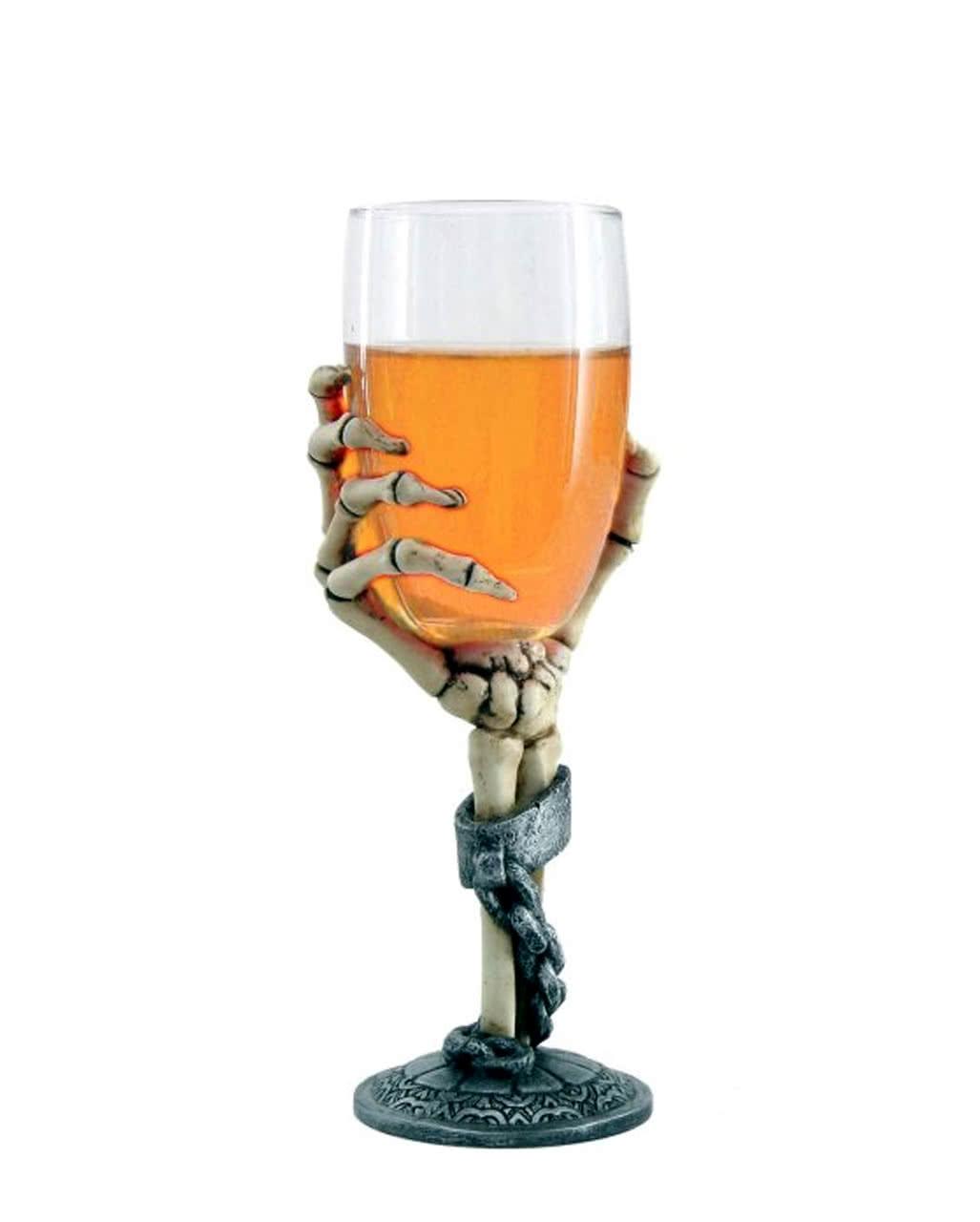 Beer Glass Skeleton Hand As Gifts Horror Shop Com