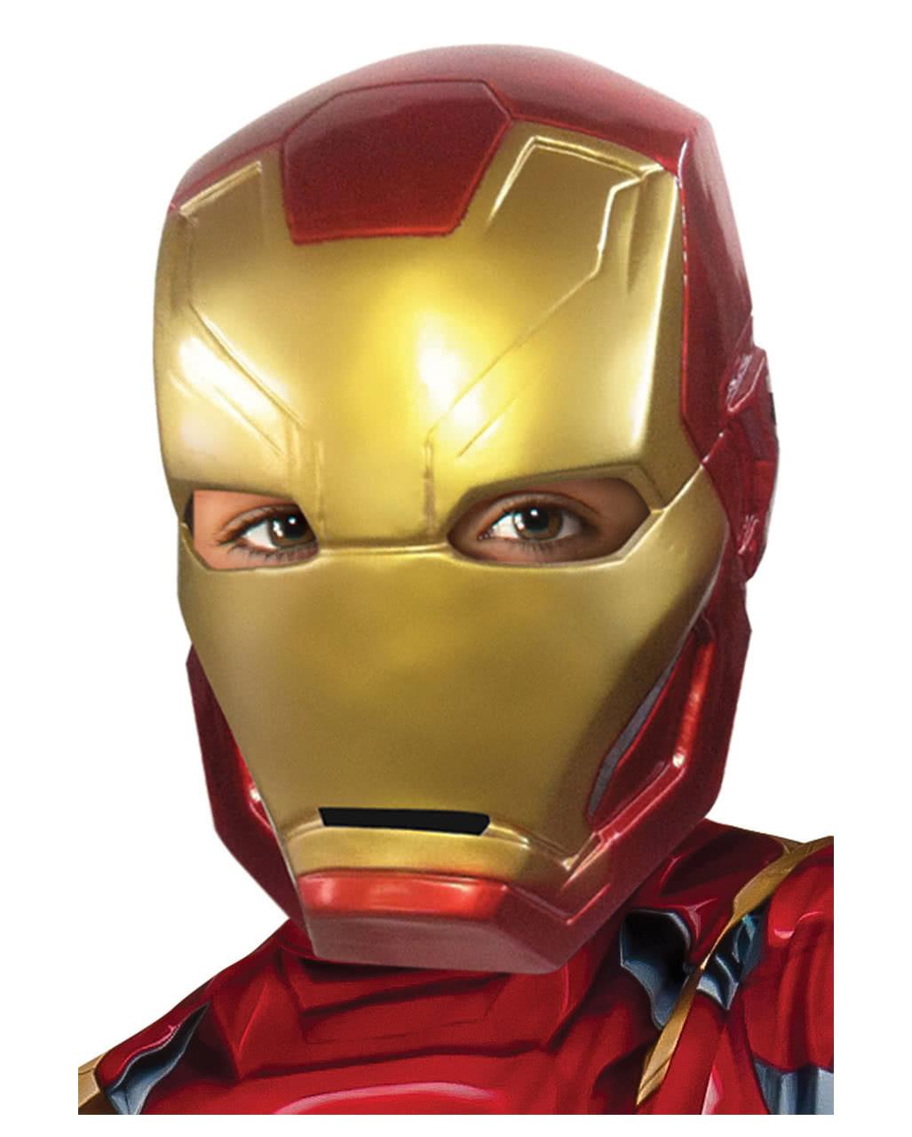 Iron Man Children S Half Mask Marvel Avenger S Mask Horror Shop Com