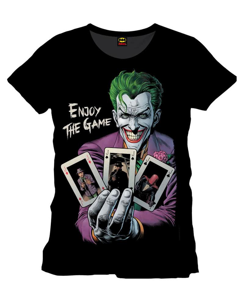 joker t shirt enjoy the game batman joker fan items. Black Bedroom Furniture Sets. Home Design Ideas