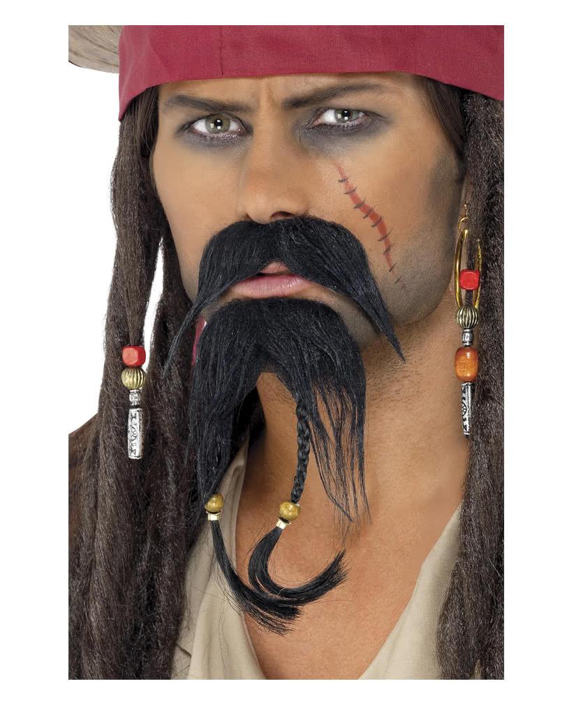 self adhesive beard and mustache High quality Braided Pirate false