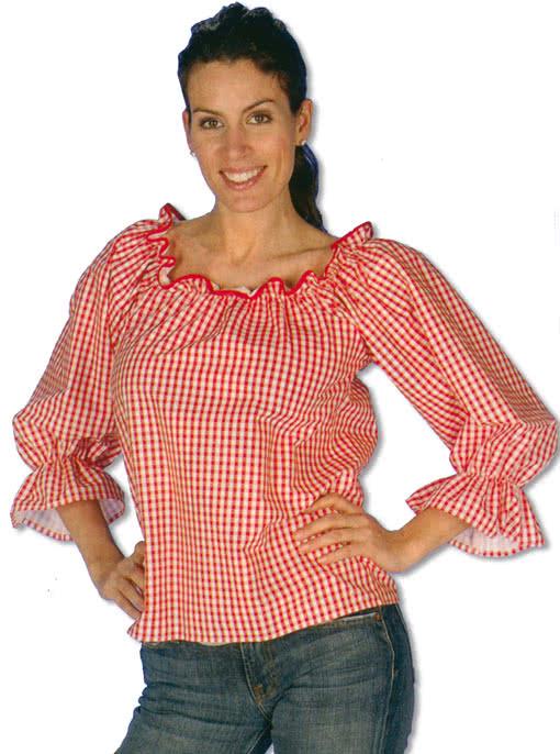 beispiellos günstig kaufen gute Qualität Karierte Bluse Rot/Weiss