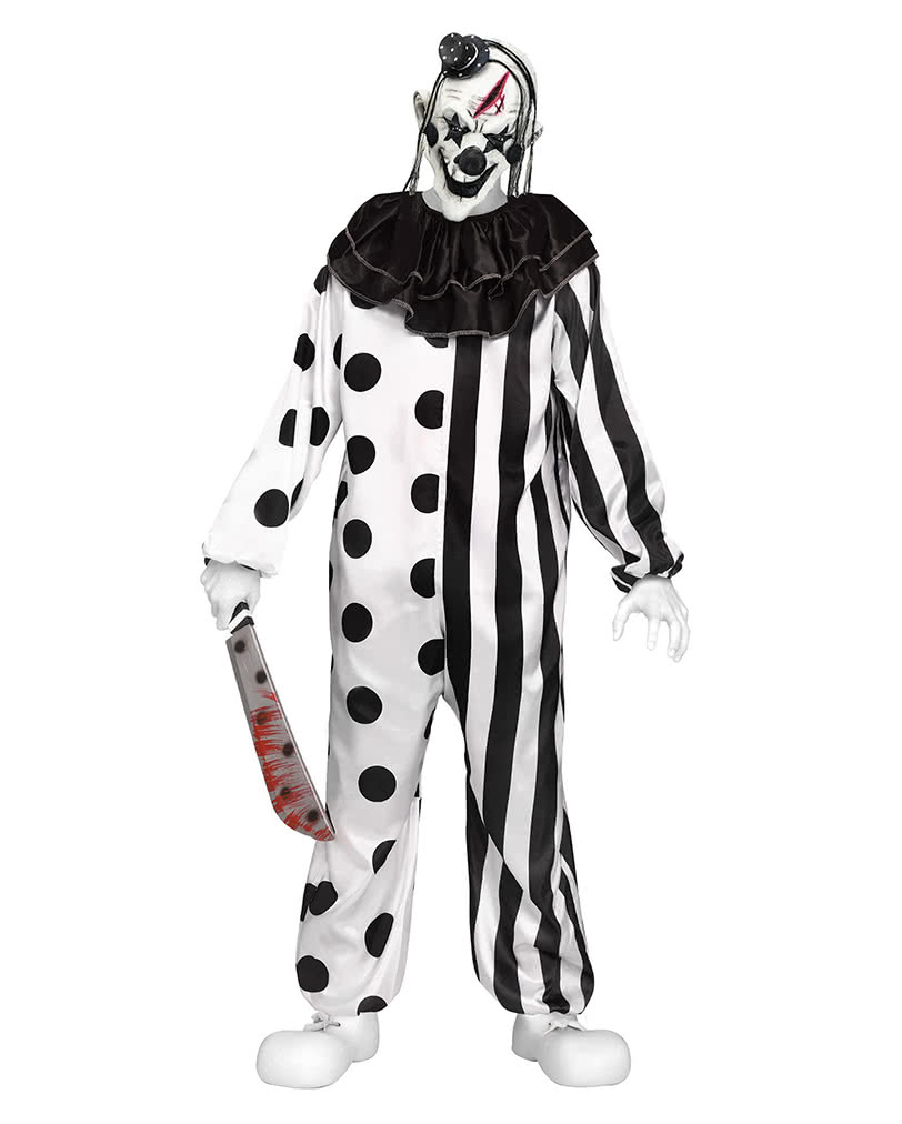 killer clown teenager costume as halloween disguise horror. Black Bedroom Furniture Sets. Home Design Ideas