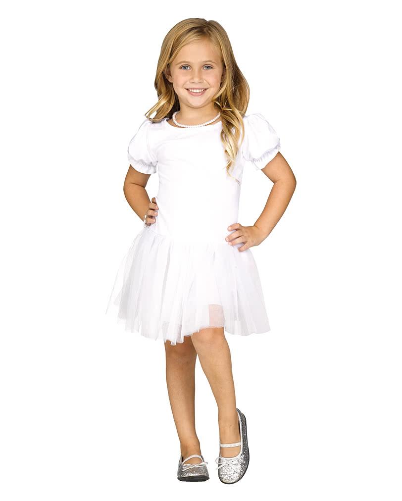 Verkaufsförderung besser 50-70% Rabatt Pettidress Kleid für Mädchen weiß