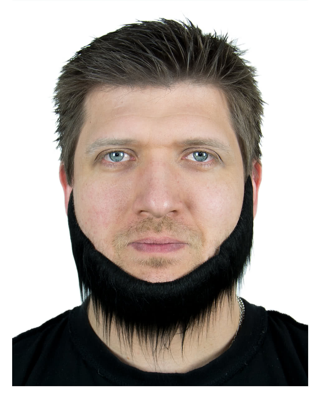 Black Jaw Chin Beard