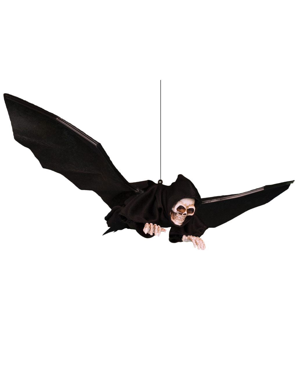 BATS PACK OF 4 BATS PLASTIC PARTY DECORATION HALLOWEEN WEB ACCESSORY 11CM