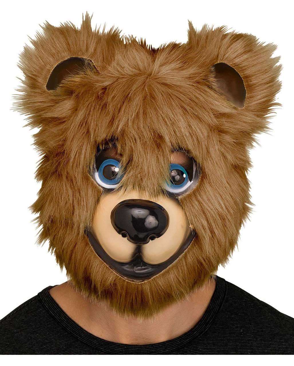 Zombie Teddy Mask Brown Bear Horror Halloween Fancy Dress Accessory
