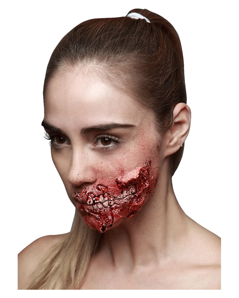 zombie fra latexwunde zombie makeup schminken horror. Black Bedroom Furniture Sets. Home Design Ideas