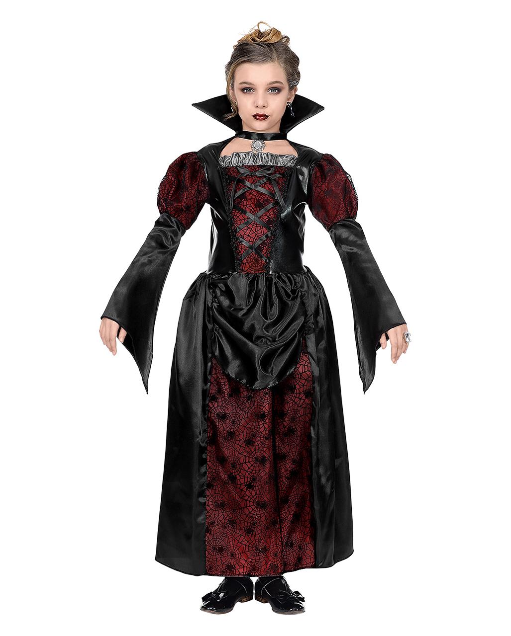 Transylvanian Vampiress Vampire Gothic Black Dress Up Halloween Child Costume