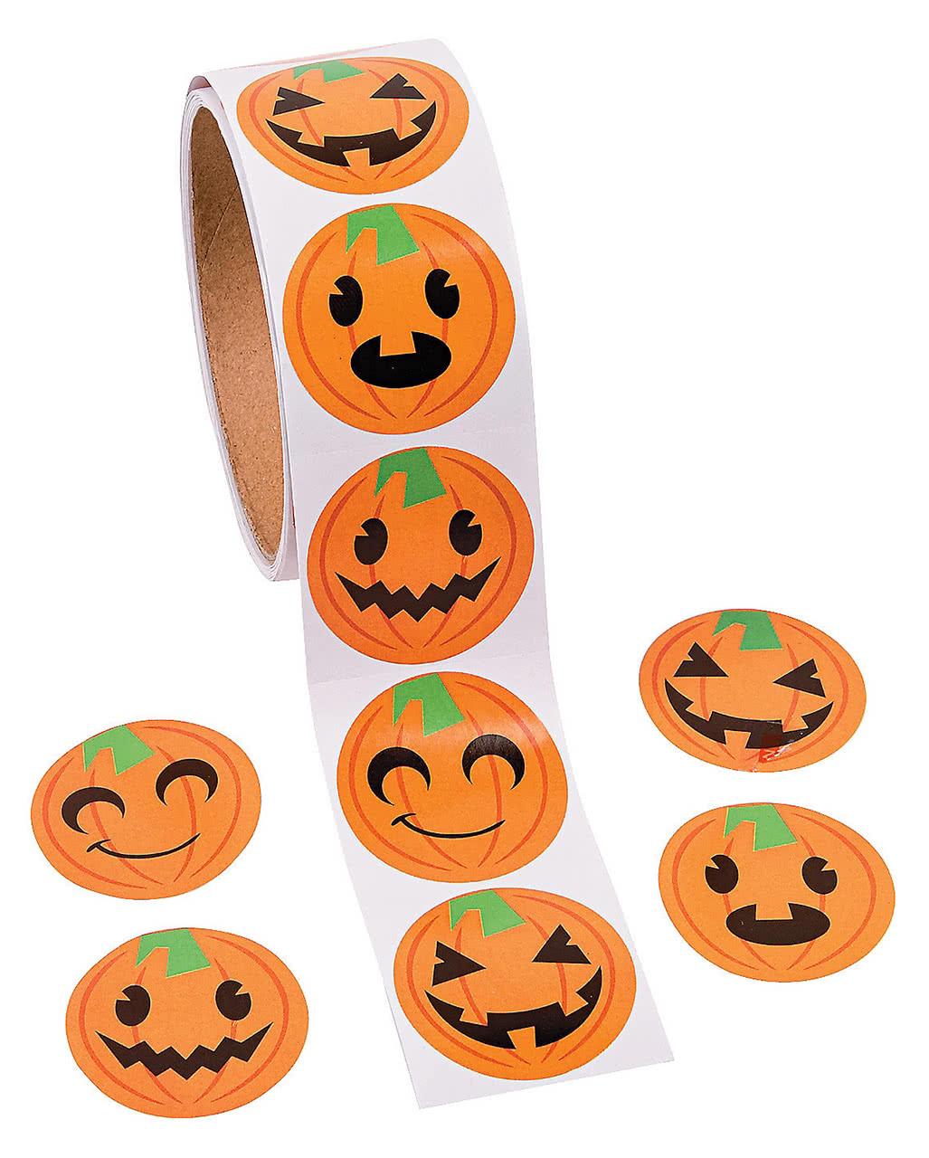 Halloween Schminken Deutsch.Funny Pumpkin Stickers