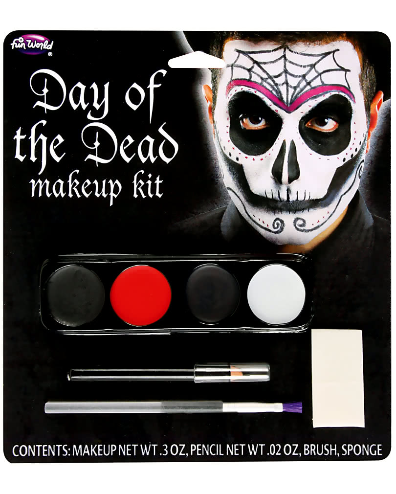 make up kit day of the dead herren halloween makeup. Black Bedroom Furniture Sets. Home Design Ideas