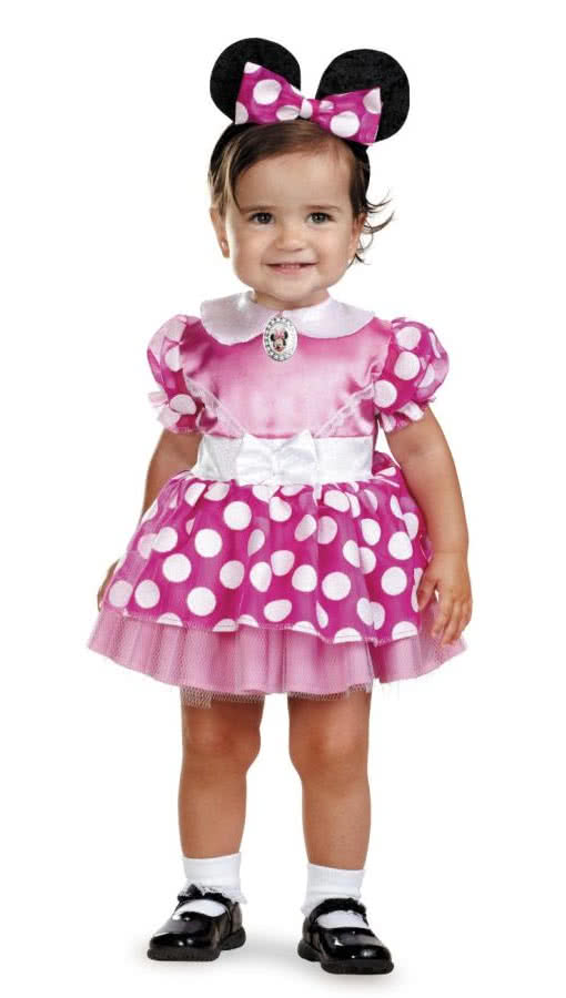minnie mouse baby costume 12 18 mo genuine disney minnie. Black Bedroom Furniture Sets. Home Design Ideas