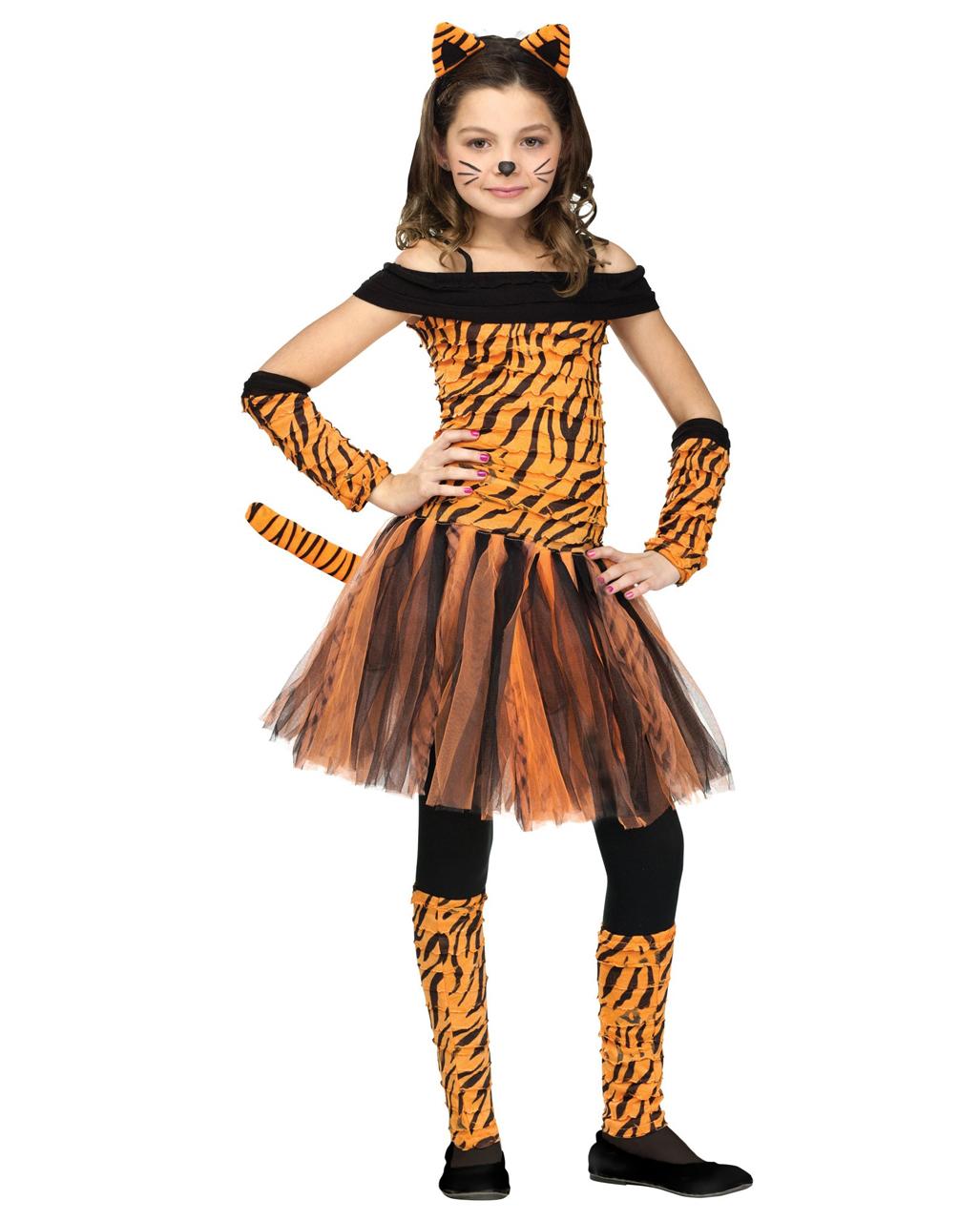 Für Original auswählen authentisch modischer Stil Miss Tiger Kinderkostüm