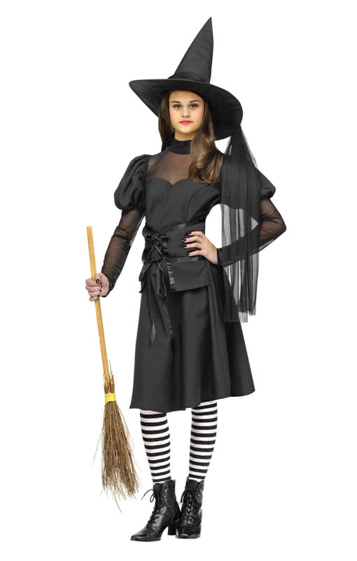 miss wicked teen costume classic witch costume for teenager horror. Black Bedroom Furniture Sets. Home Design Ideas