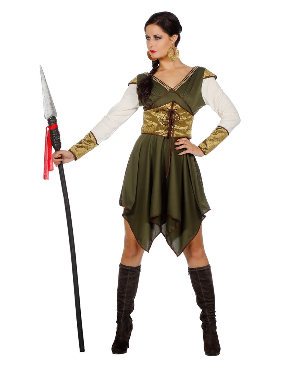 Medieval Warrior Costume Adult Princess Halloween Fancy Dress