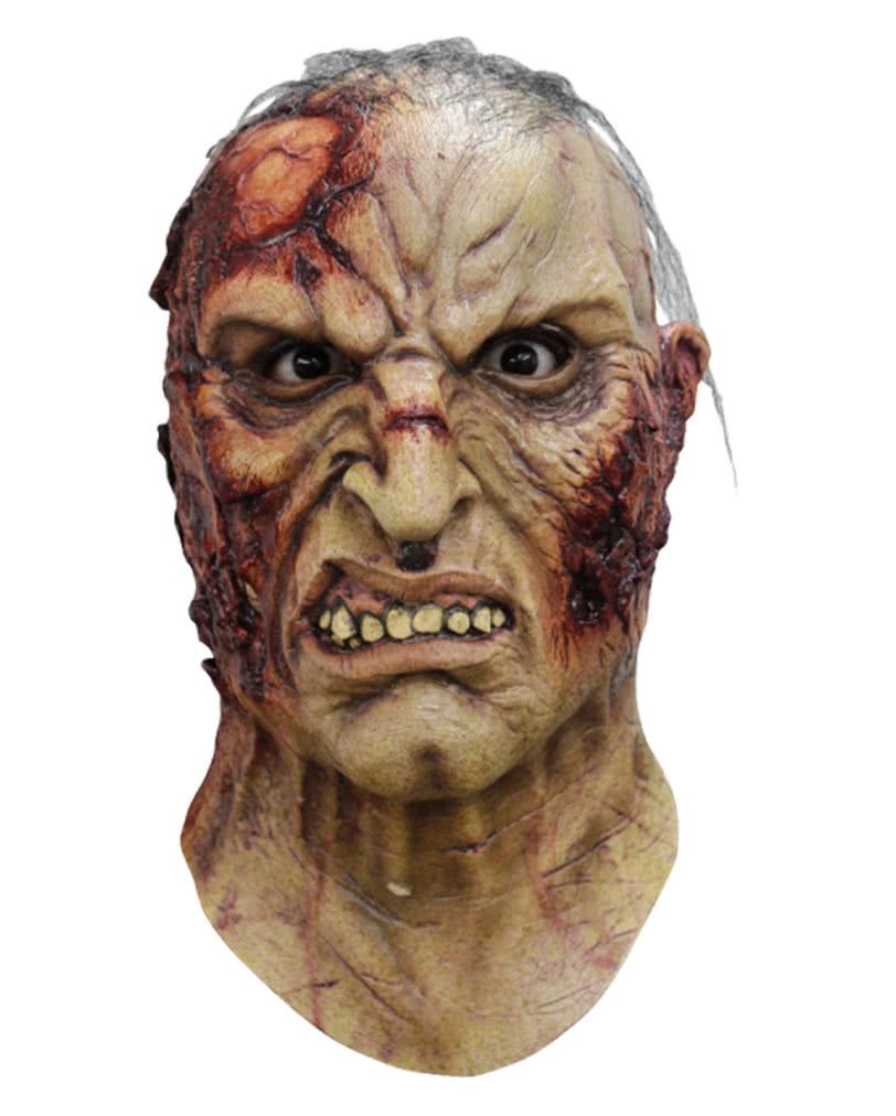 mortus zombie maske mit haaren horror maske horror. Black Bedroom Furniture Sets. Home Design Ideas