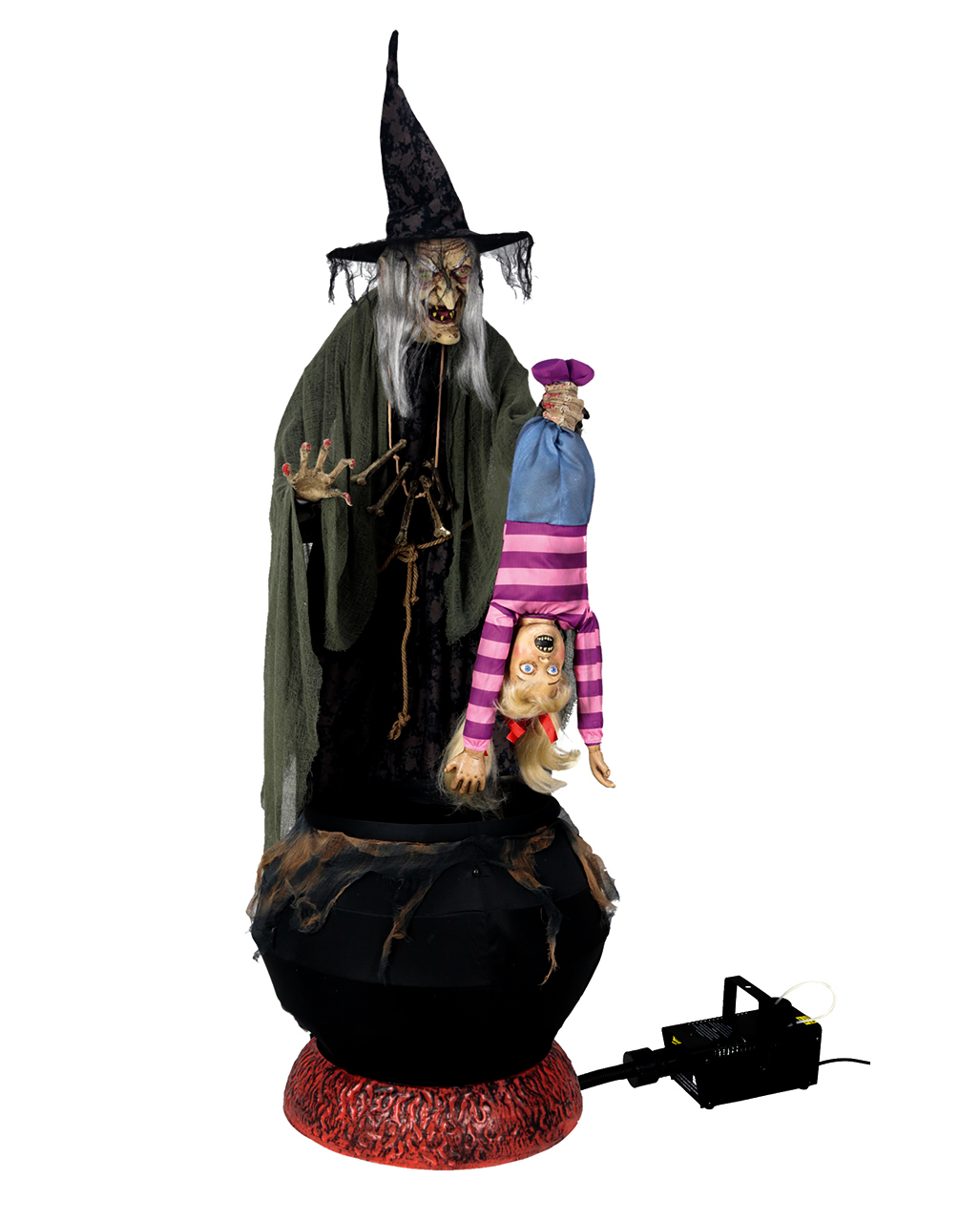 Wicked Witch Animatronic With Screaming Child