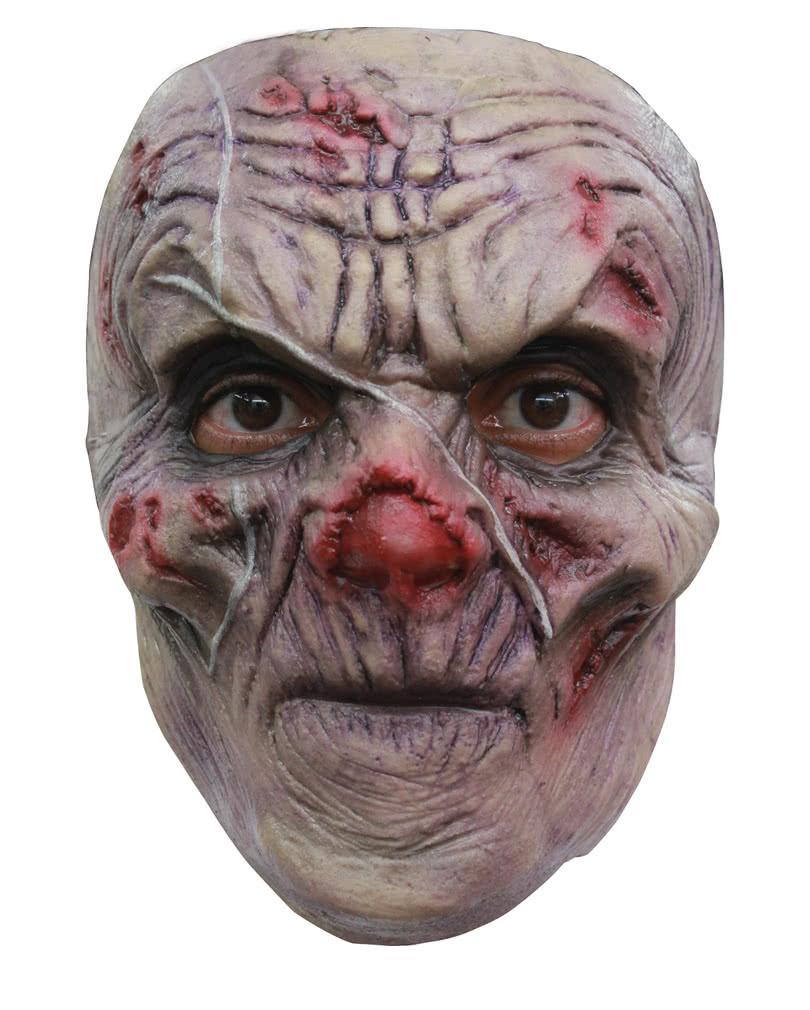 narben zombie maske walker zombie halbmaske horror. Black Bedroom Furniture Sets. Home Design Ideas