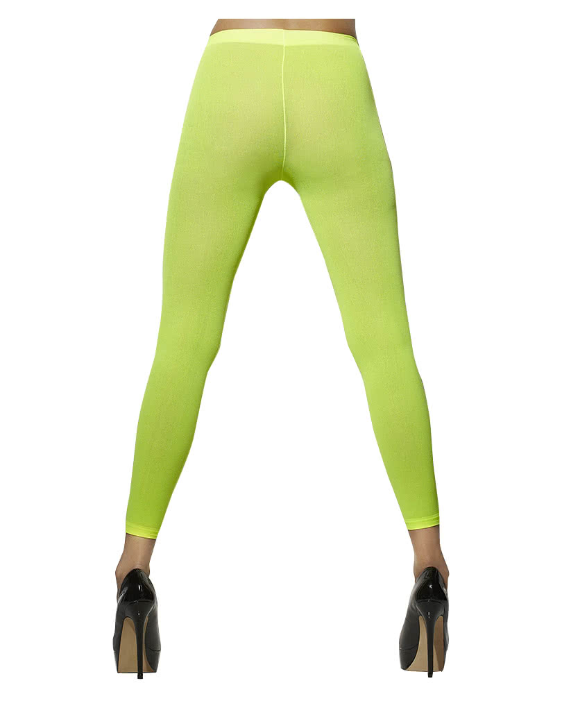 Neon green leggings | Shrill leggings for the 80s Party | horror-shop.com