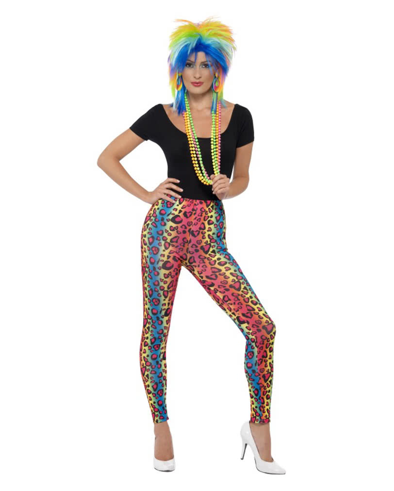 neon leopard leggings button for shrill bad outfits. Black Bedroom Furniture Sets. Home Design Ideas