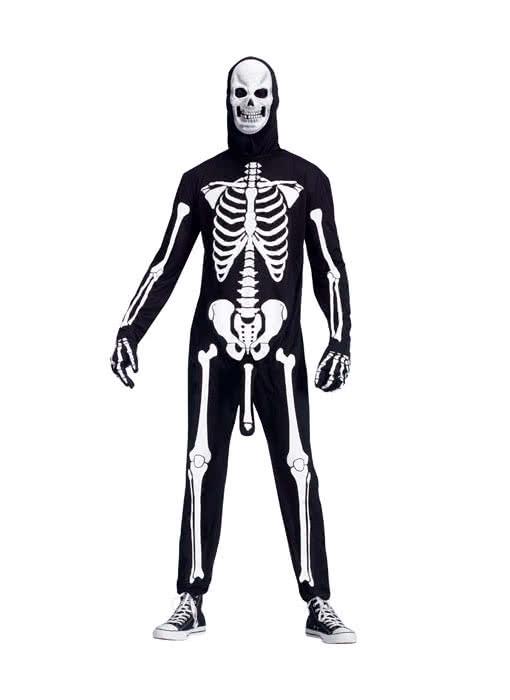 Skeleton Outfit Halloween.Horny Skeleton Costume