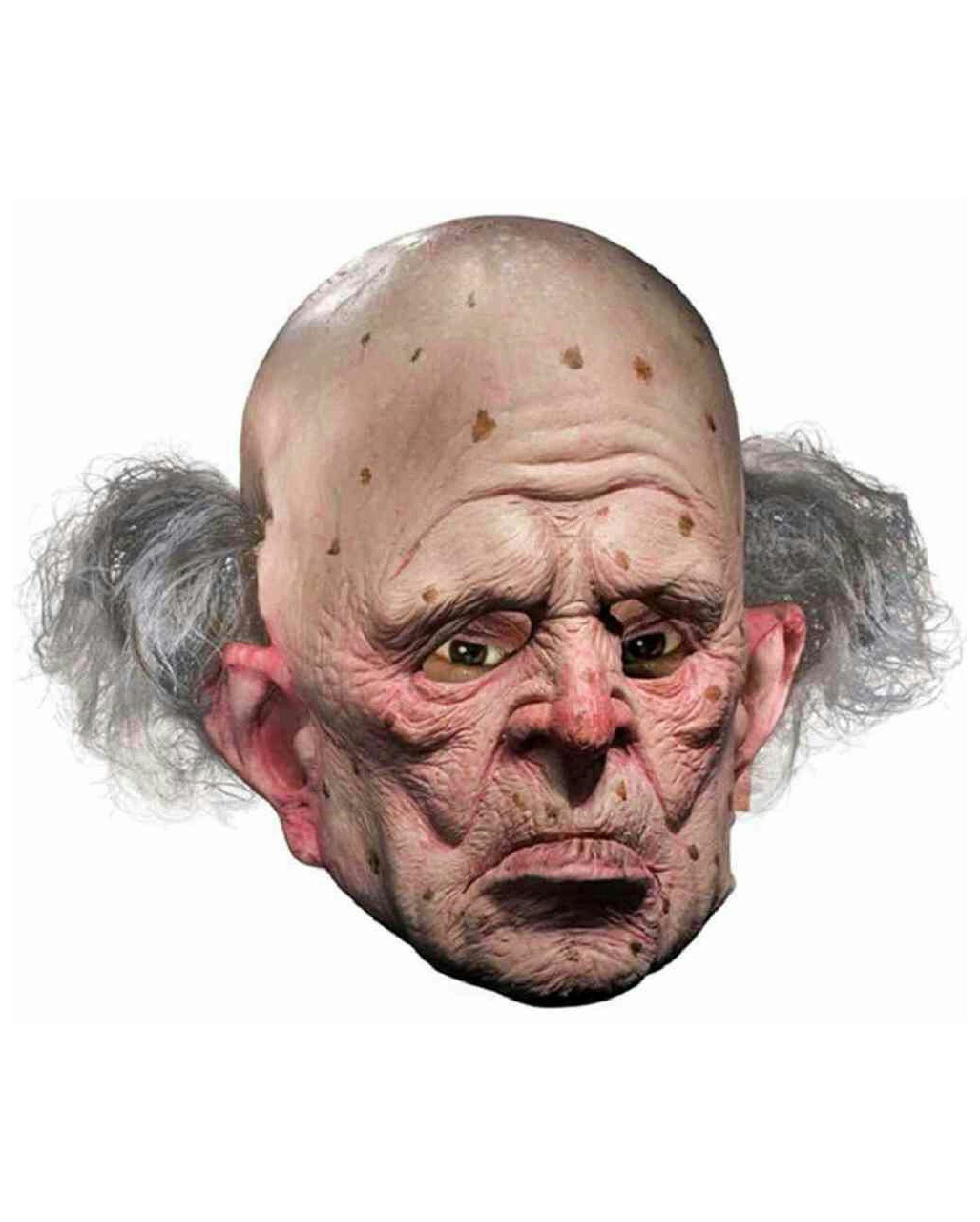Old Opa mit Bart Grey//Black Halloween Mask