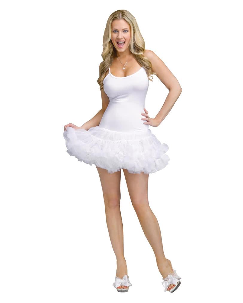 petti dress white sexy mini dress with tutu skirt horror. Black Bedroom Furniture Sets. Home Design Ideas
