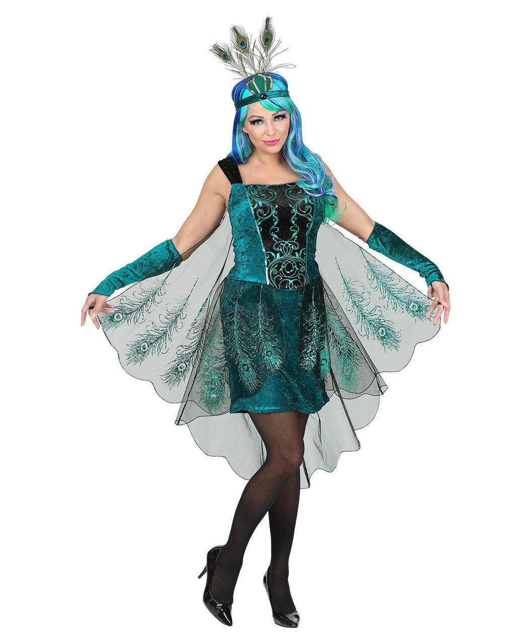 68ab4913af3 Peacock Fairy Costume With Headdress
