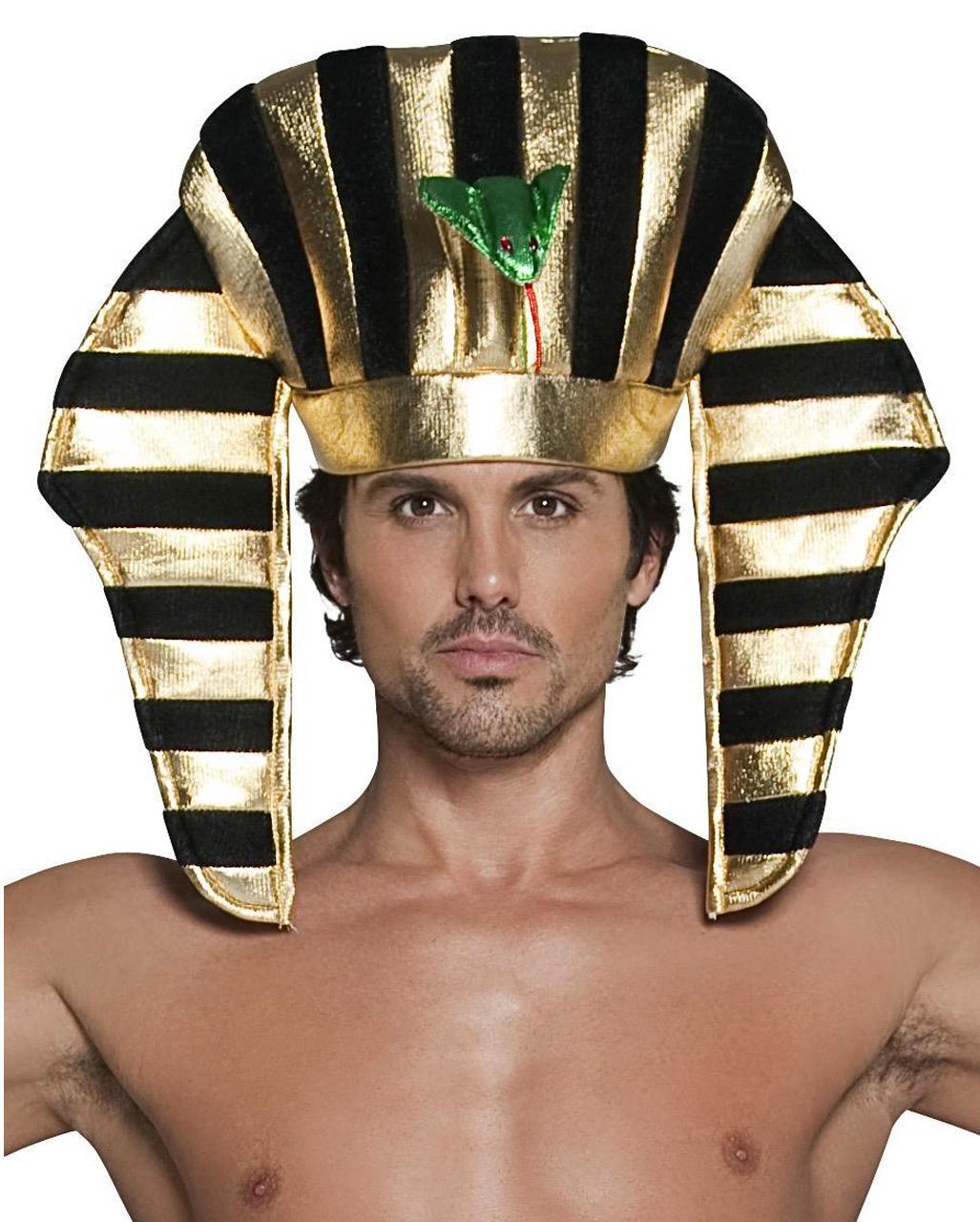 Egyptian Snake Staff Sceptre Gold Top Hooded Cobra Head Pharaoh Fancy Dress