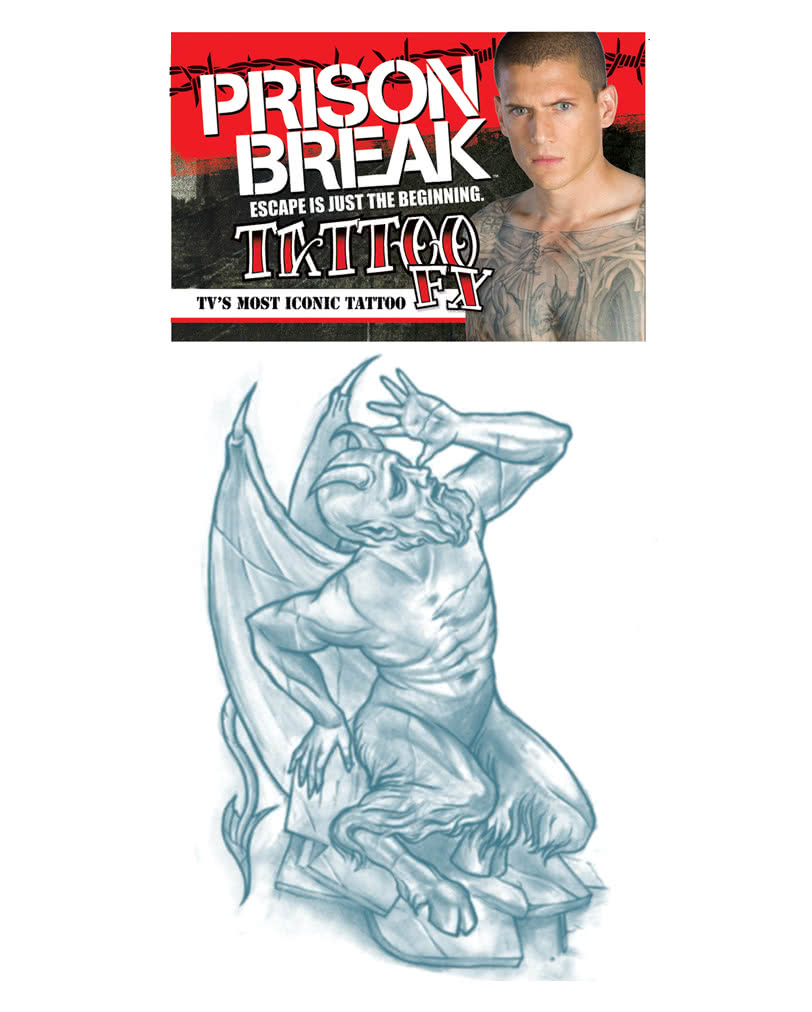 Prison Break Tattoo The Docile Devil Adhesive Tattoos As A Costume Accessory Horror Shop Com