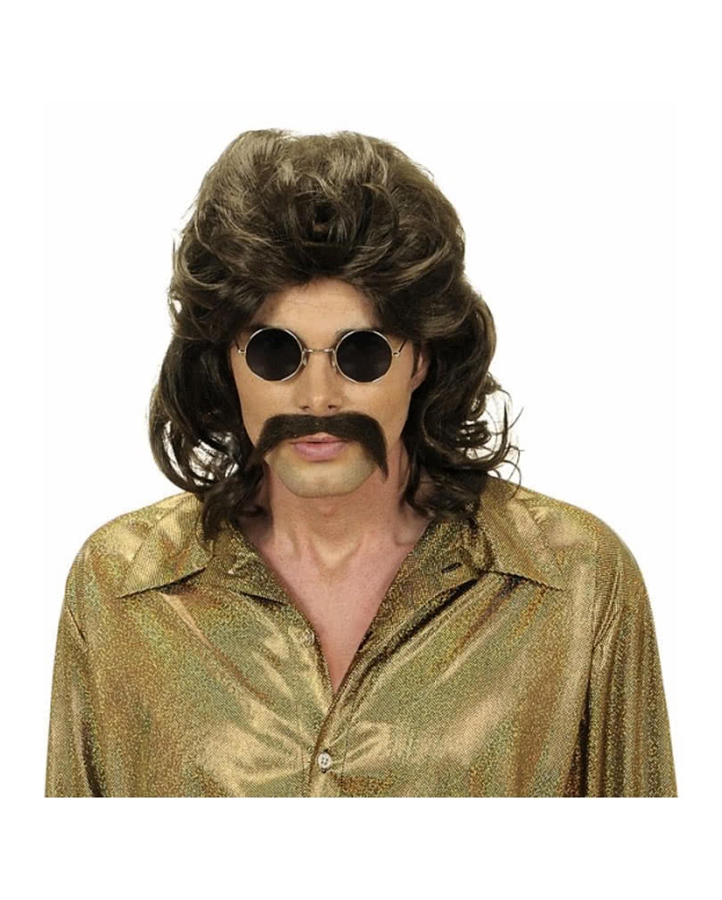 70s Wig With Mustache