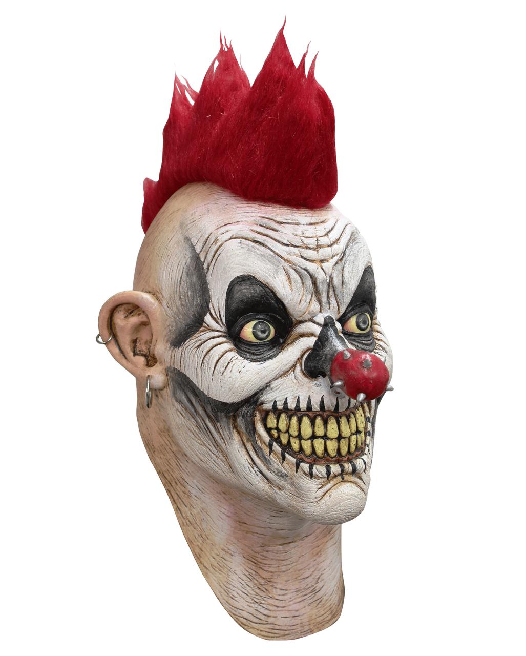 punker clown horror maske killerclown maske horror. Black Bedroom Furniture Sets. Home Design Ideas