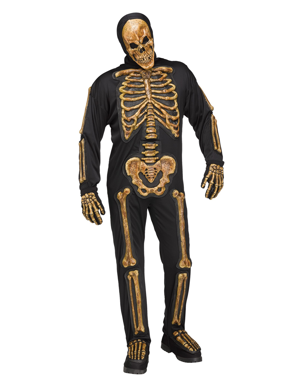 realistic skeleton bones costume halloween carnival horror. Black Bedroom Furniture Sets. Home Design Ideas