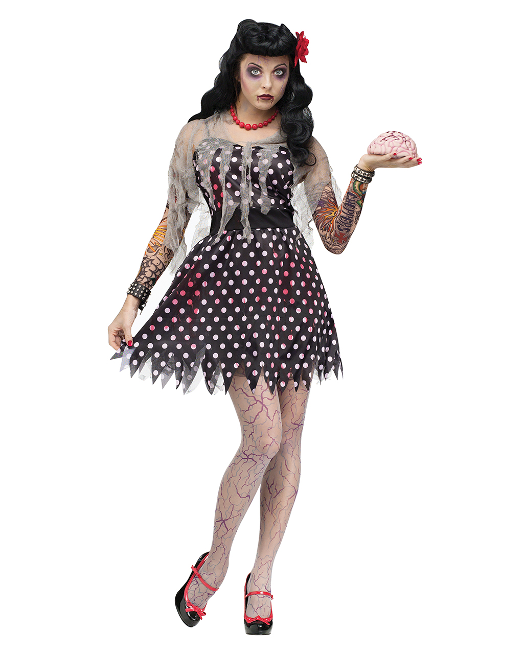 Halloween Zombie Costumes For Girls.Rockabilly Zombie Costume