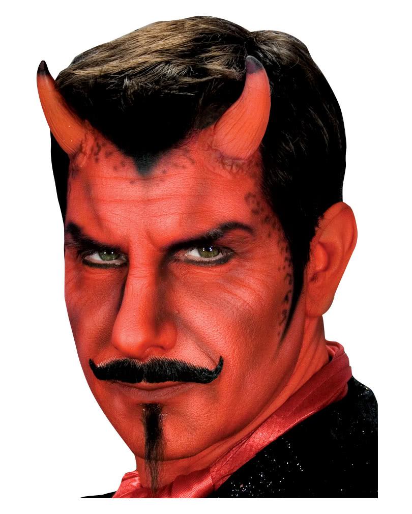 Teufelshörner Satan Teufel  Hörner Dämon Latexhörner Halloween Kostüm Schminke