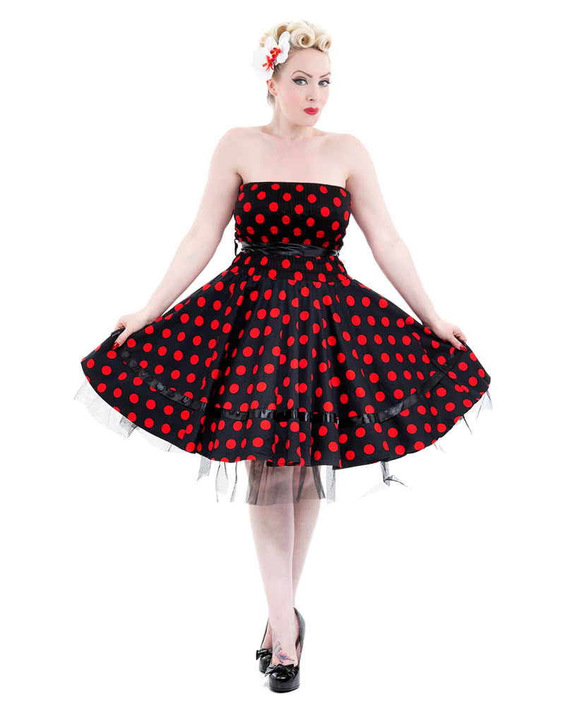Schwarzes rotes Kleid des Esels