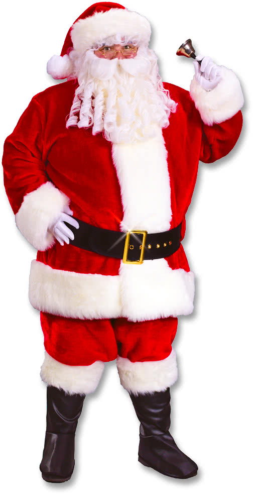 Childrens Deluxe Santa Costume Boys Father Christmas Kids Fancy Dress New