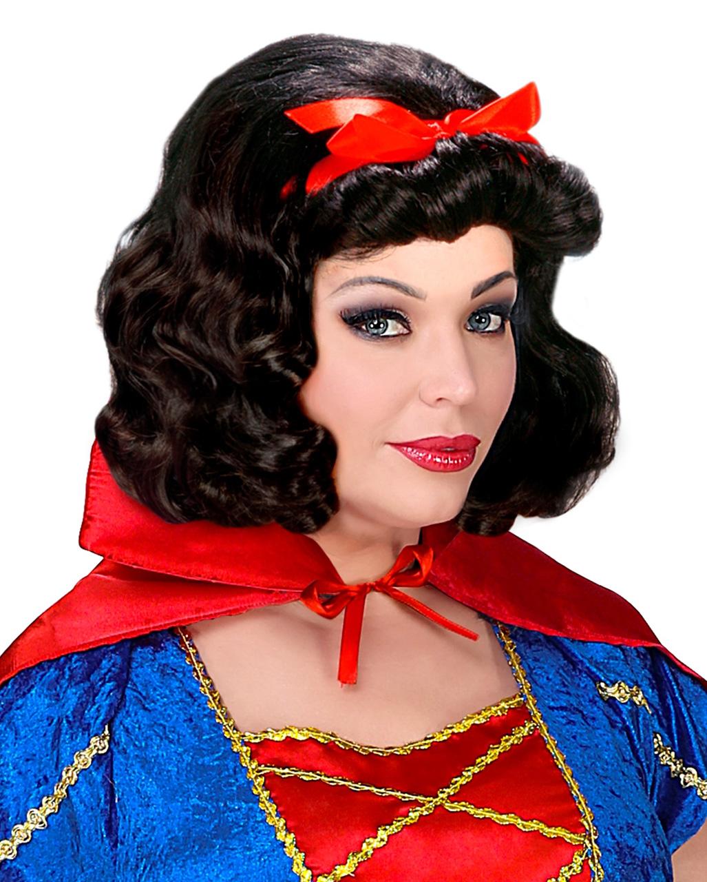 Women Wavy Hair Princess Snow White Cosplay Halloween Costume Wig pretty