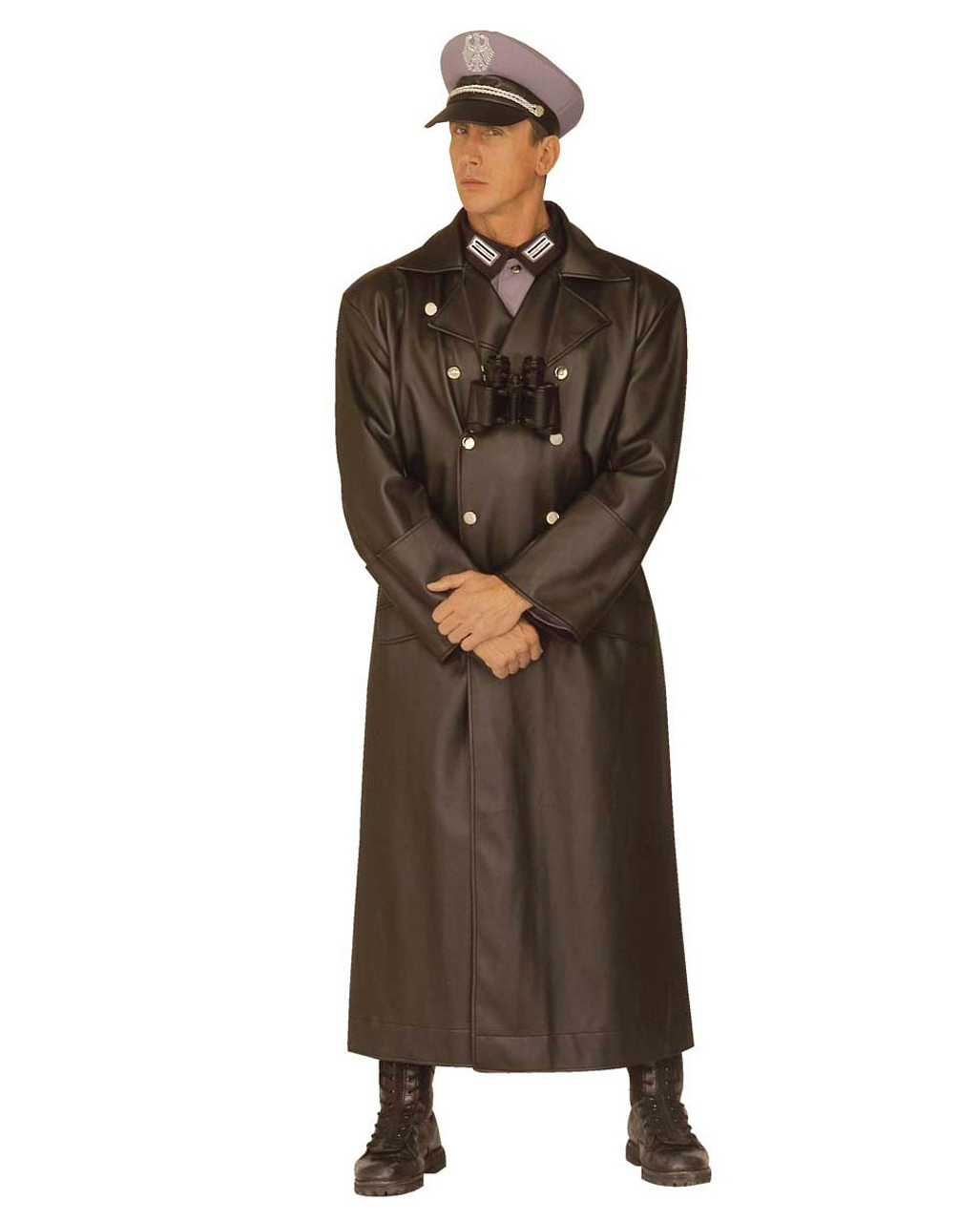 1a8469f6ef2 General Army Coat S | Black officer`s coat leatherette | horror-shop.com