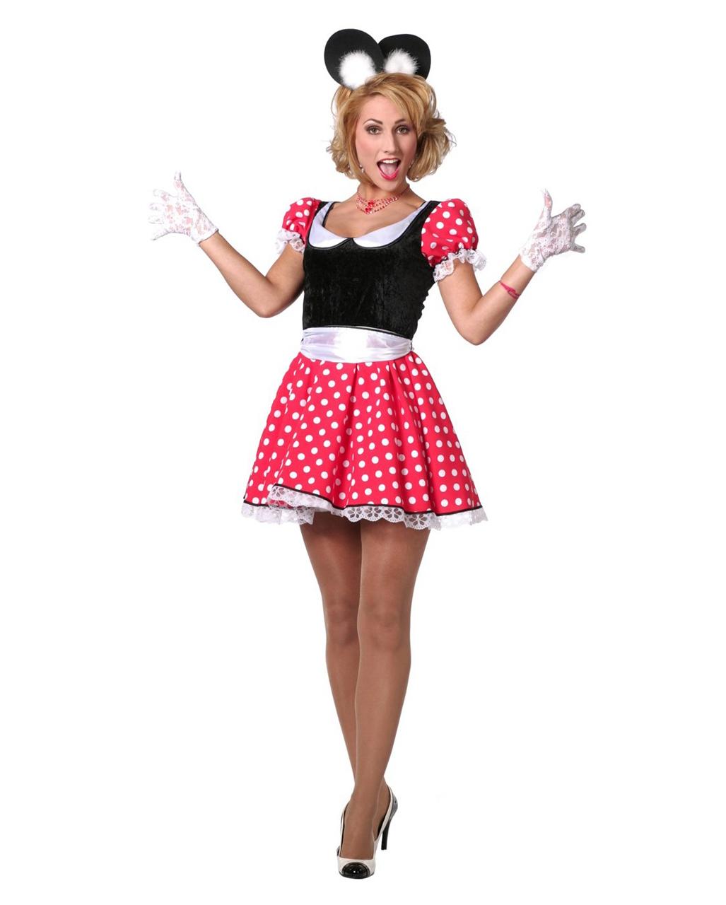 Sexy Minnie Maus Damen Kostum Fur Karneval Kaufen Horror Shop Com