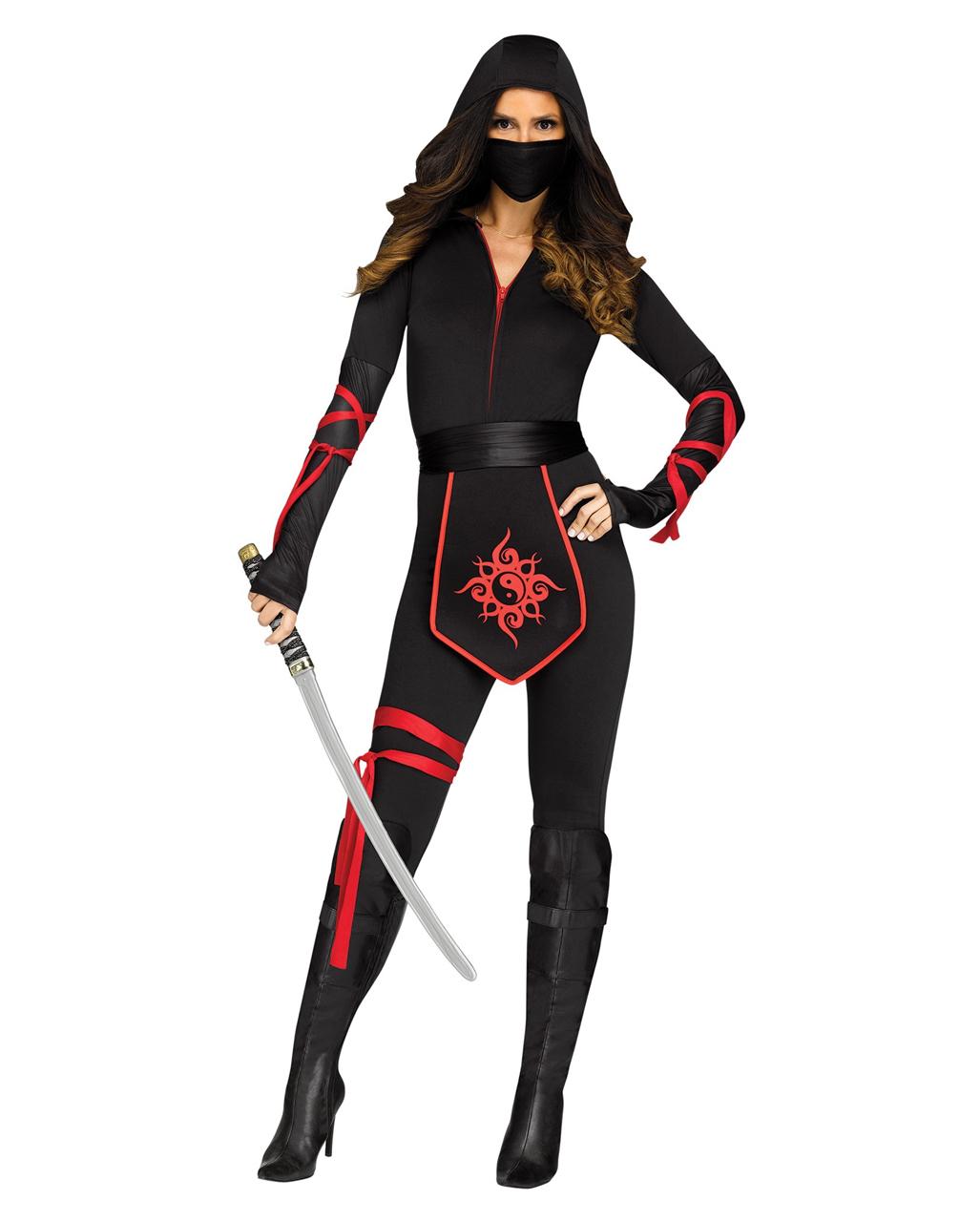 ninja warrior frauenkost m f r halloween horror. Black Bedroom Furniture Sets. Home Design Ideas