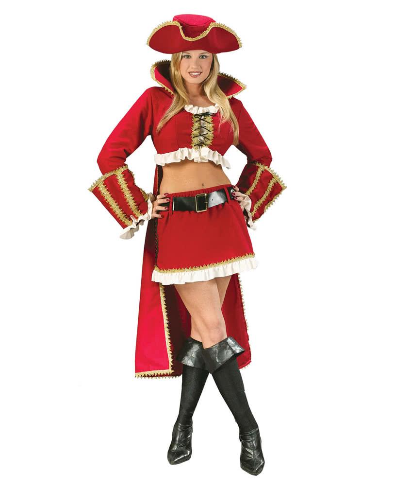 sexy captain blackheart piratin kost m gr 36 38 s m f r karneval horror. Black Bedroom Furniture Sets. Home Design Ideas