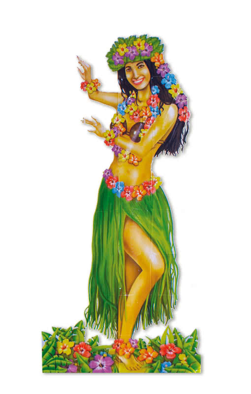 Sexy Hawaiian Girl Poster Flower Girl Hawaiian Party -1878