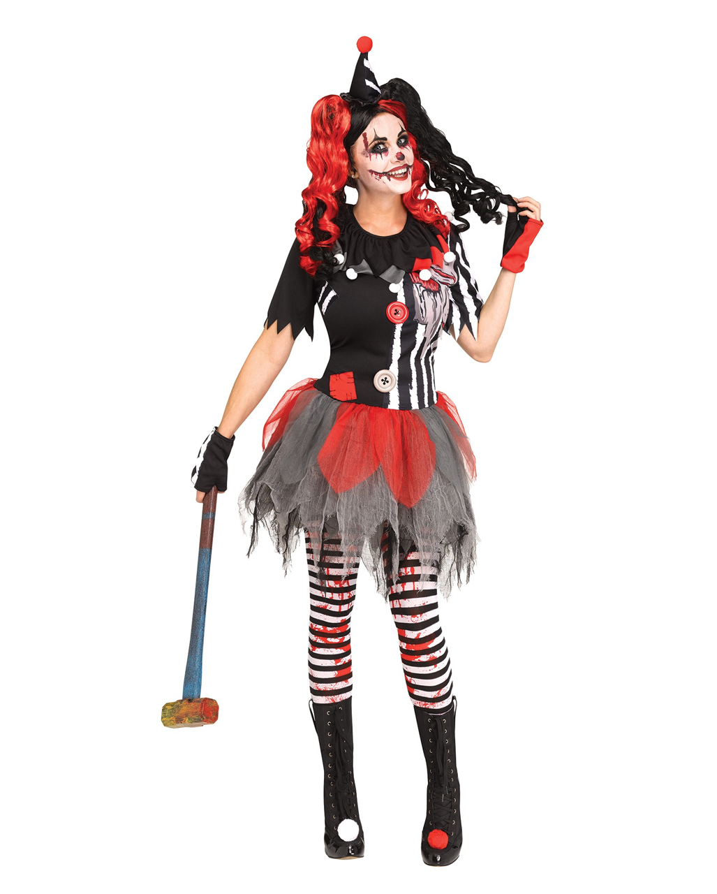Killer Clown Halloween Costumes For Girls.Sinister Circus Clown Costume For Adults