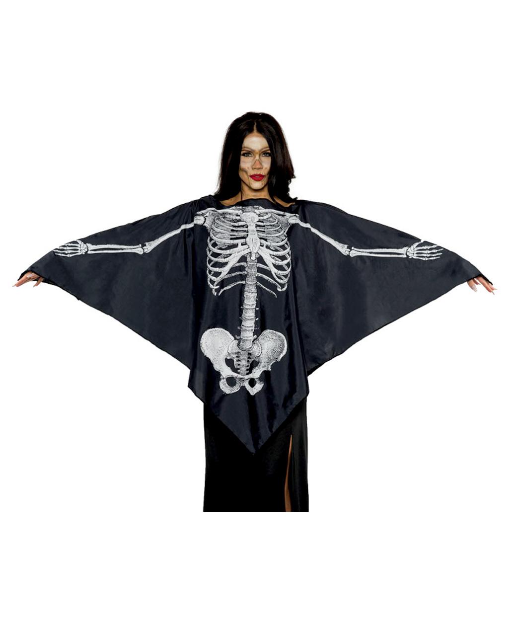 Skeleton Costume Poncho Buy Halloween Costumes Horror Shop Com