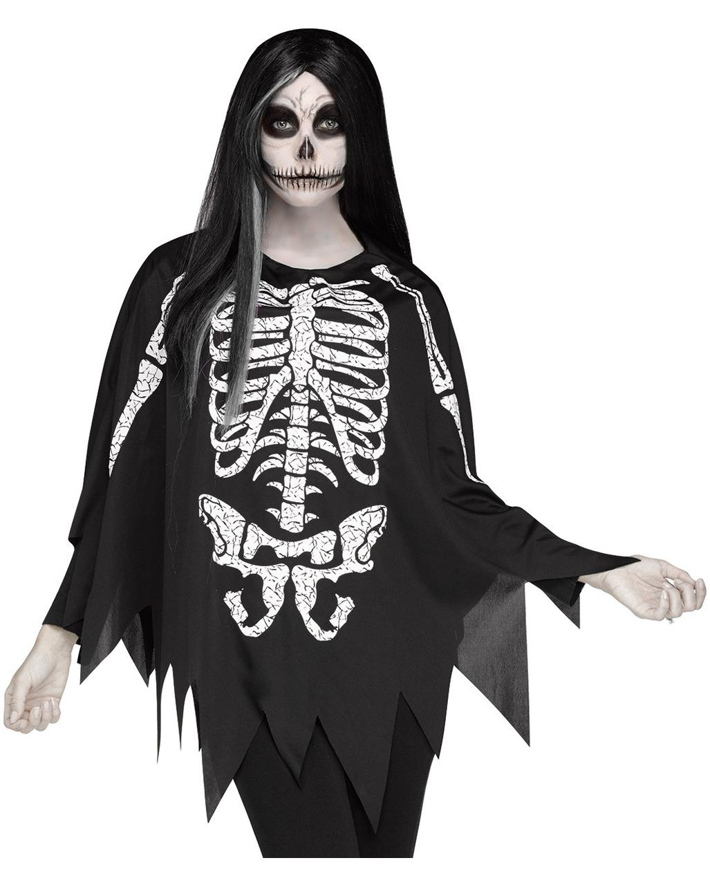 Halloween Kostuem Skelett Amazon.Skelett Poncho Als Halloween Kostum Horror Shop Com