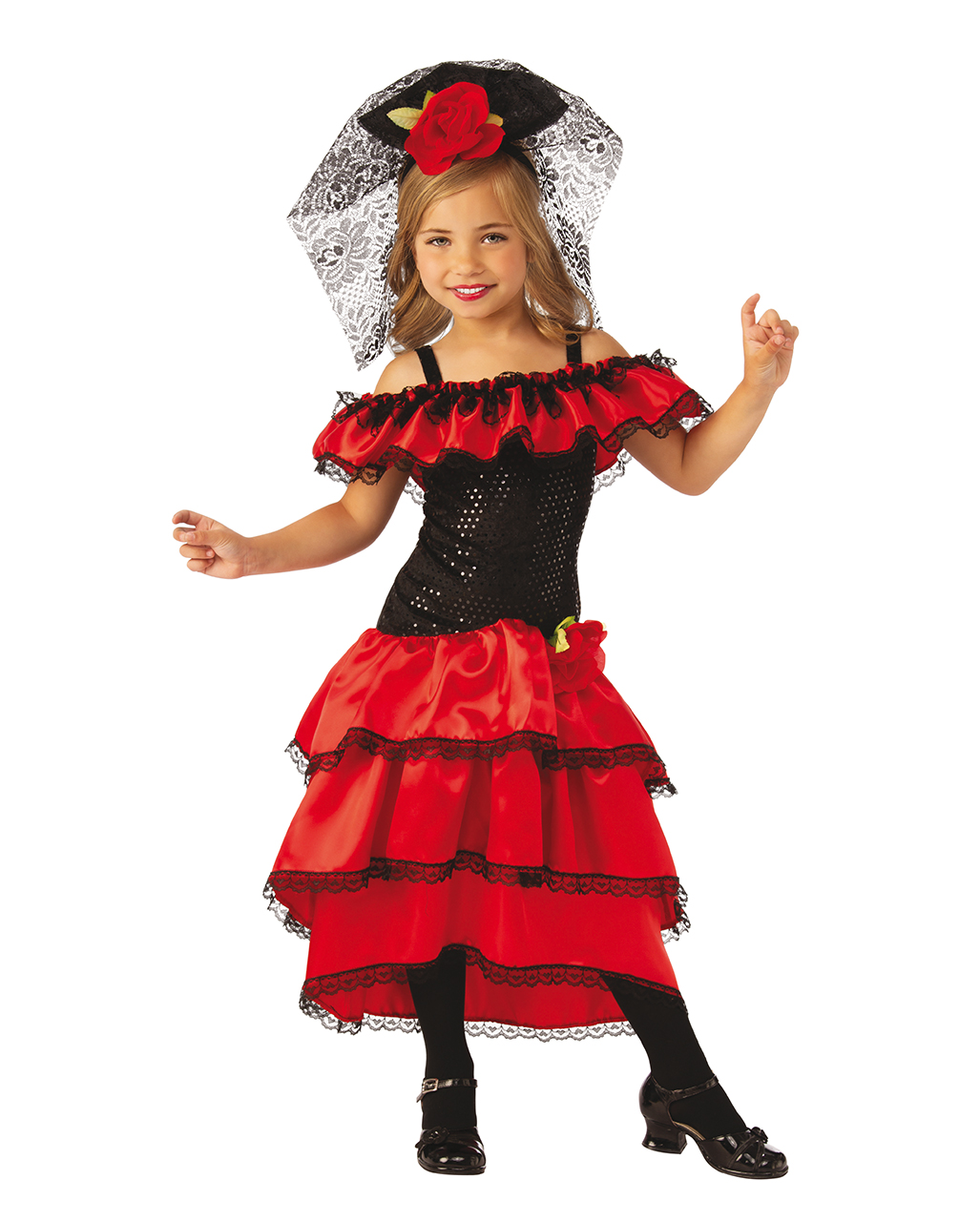 Costume Carneval Theme Party Spanish Lady Flamenco L