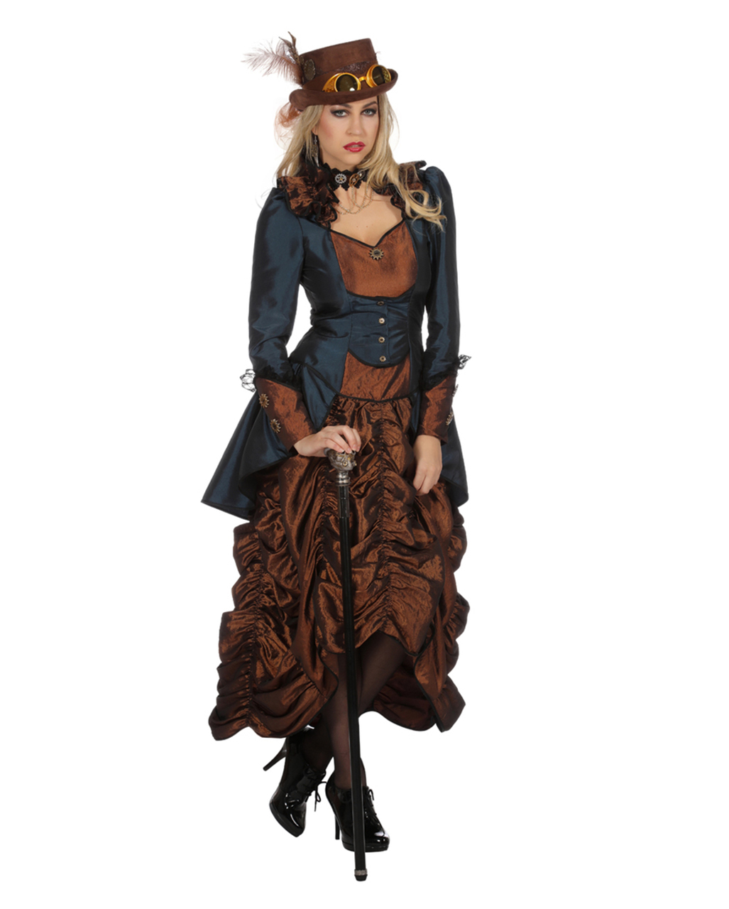 Mini Victorian Steampunk Hat Black Fancy Dress Halloween Adult Costume Accessory